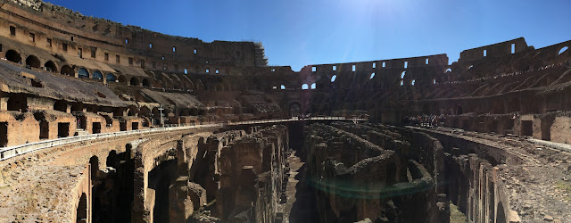 Panoramic View of the Roman Colosseum, Inside the Colosseum