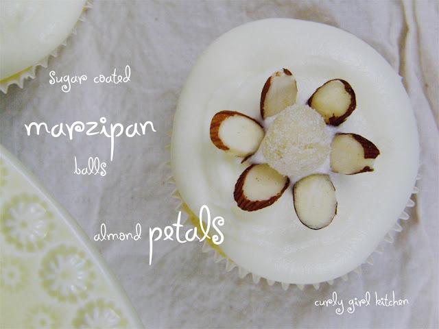 Almond Flower Cupcake