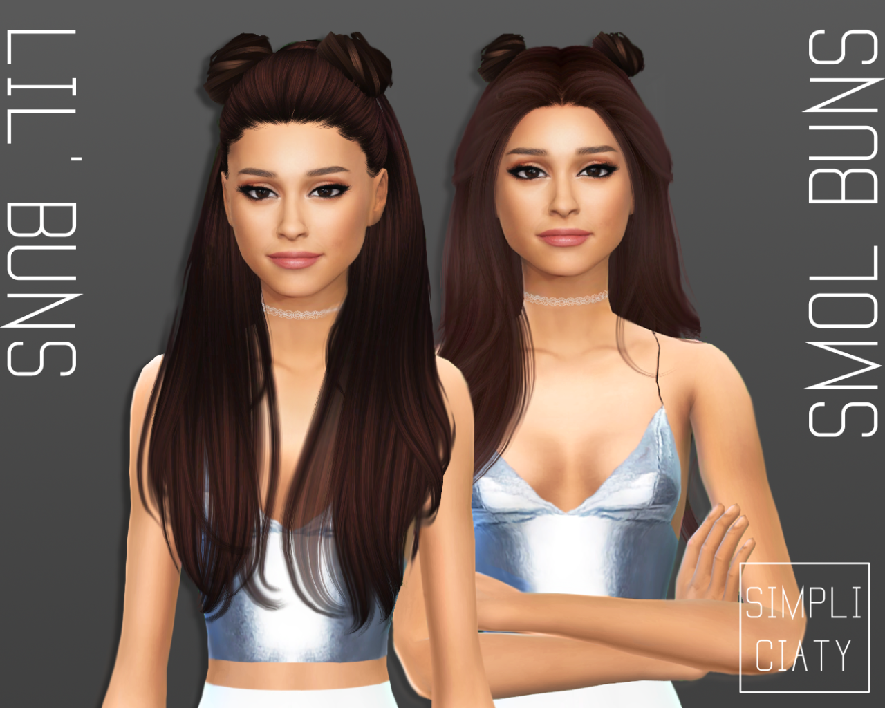 The sims 4 hair accessories - Accessory Hair Buns By Simpliciaty