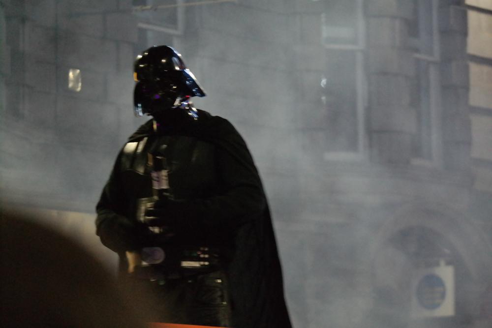 Uh... Darth Vader in a Christmas parade