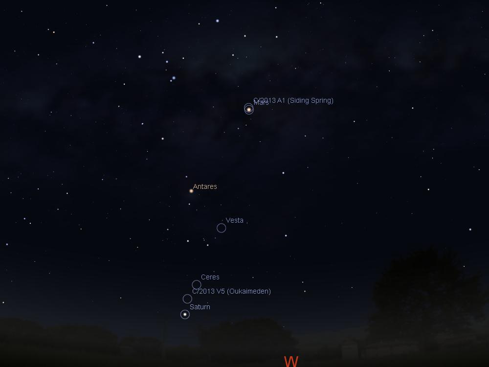 Comet Sky 2013 Comet C/2013 a1 Siding Spring