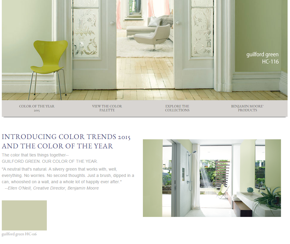 Tuesday Trend Benjamin Moore 2014 Color Trends: The Lovely Side: 5 'Colors Of The Year' For 2015: Marsala, Copper Orange, Guilford Green, Blue