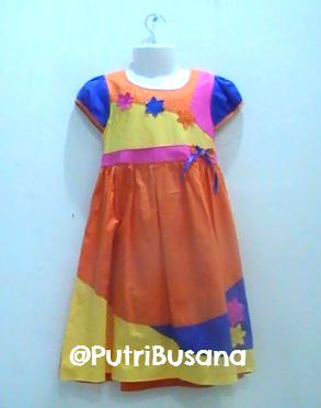 putri, busana, dress, pesta, motif, bunga