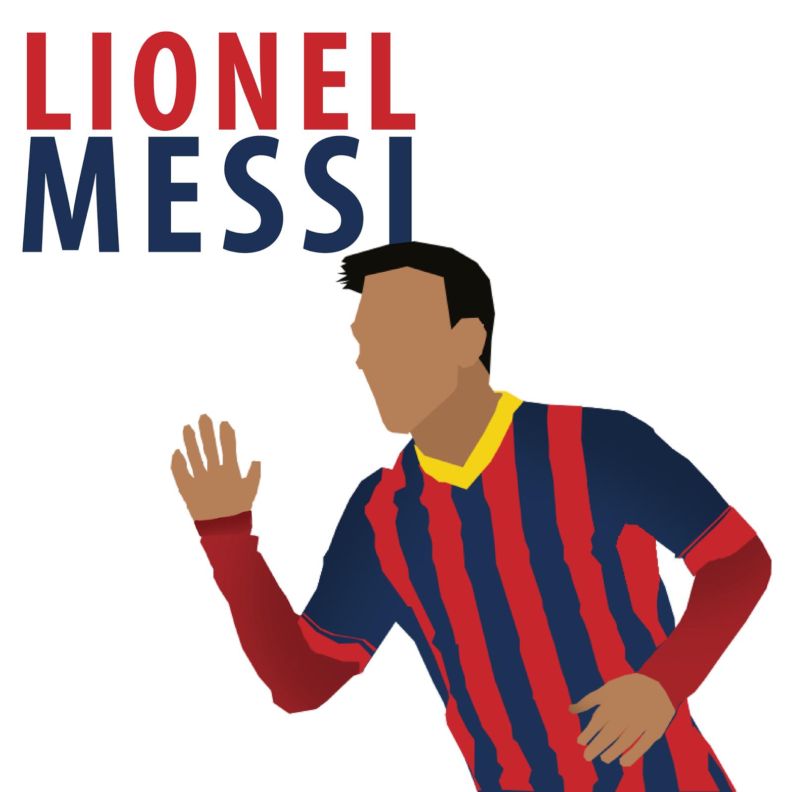 Lionel Messi Cartoon Wallpaper Minimalist