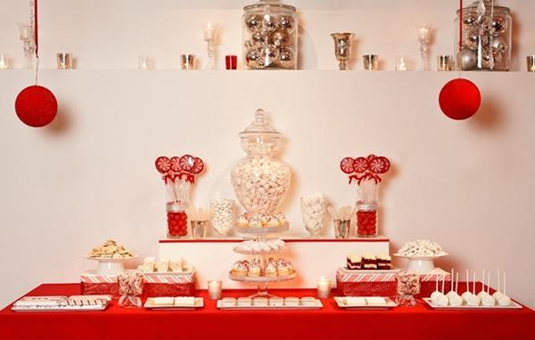 mesa decorada de netal