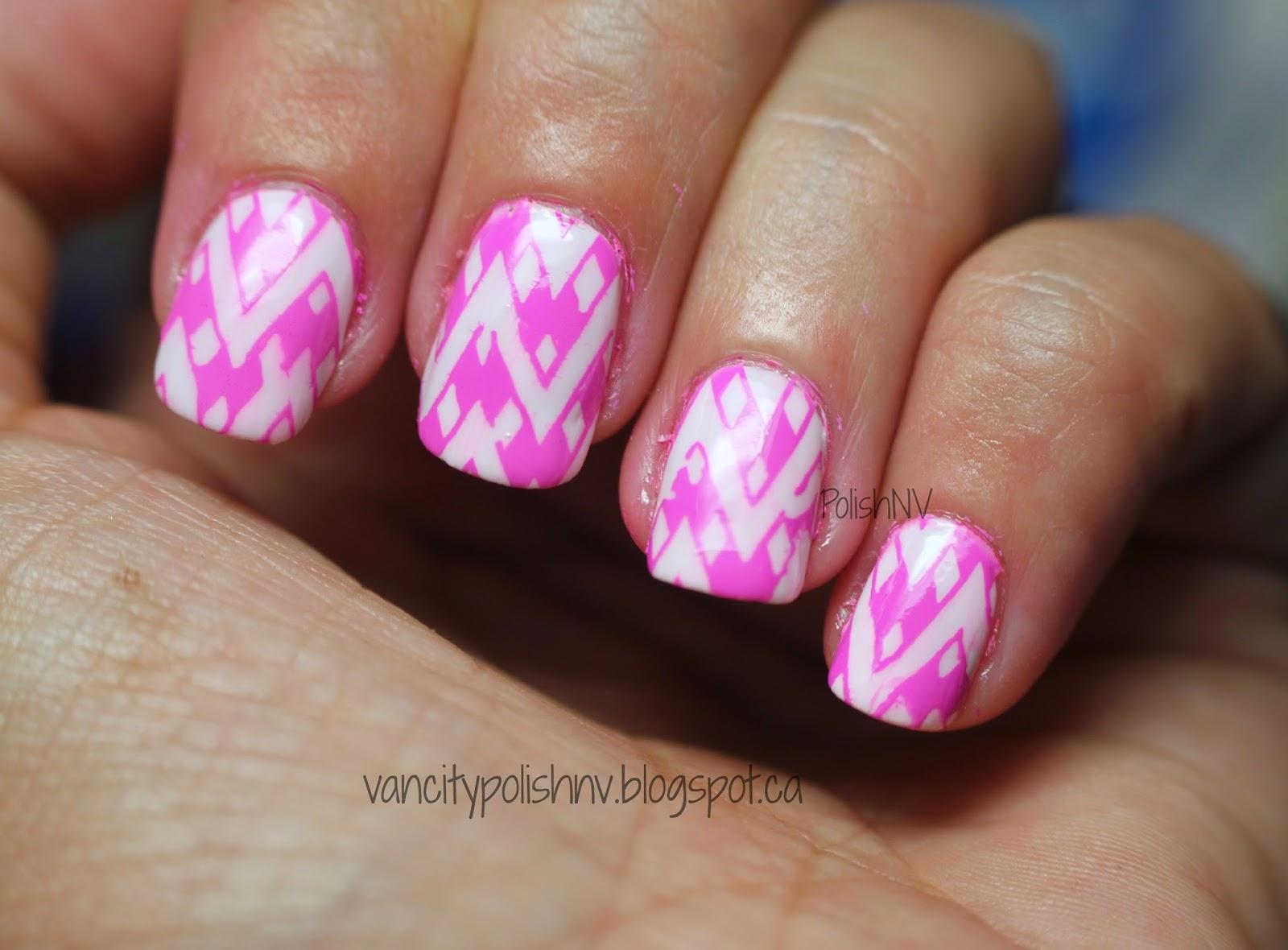 Mundo de Unas Mexican Pink stamping
