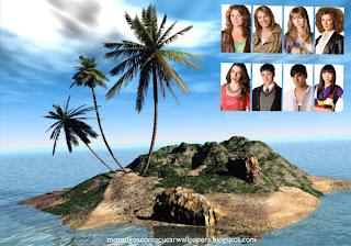 Morangos com Açucar em Imagens Wallpapers Jovens Atores em fundo de tela Ilha em 3D