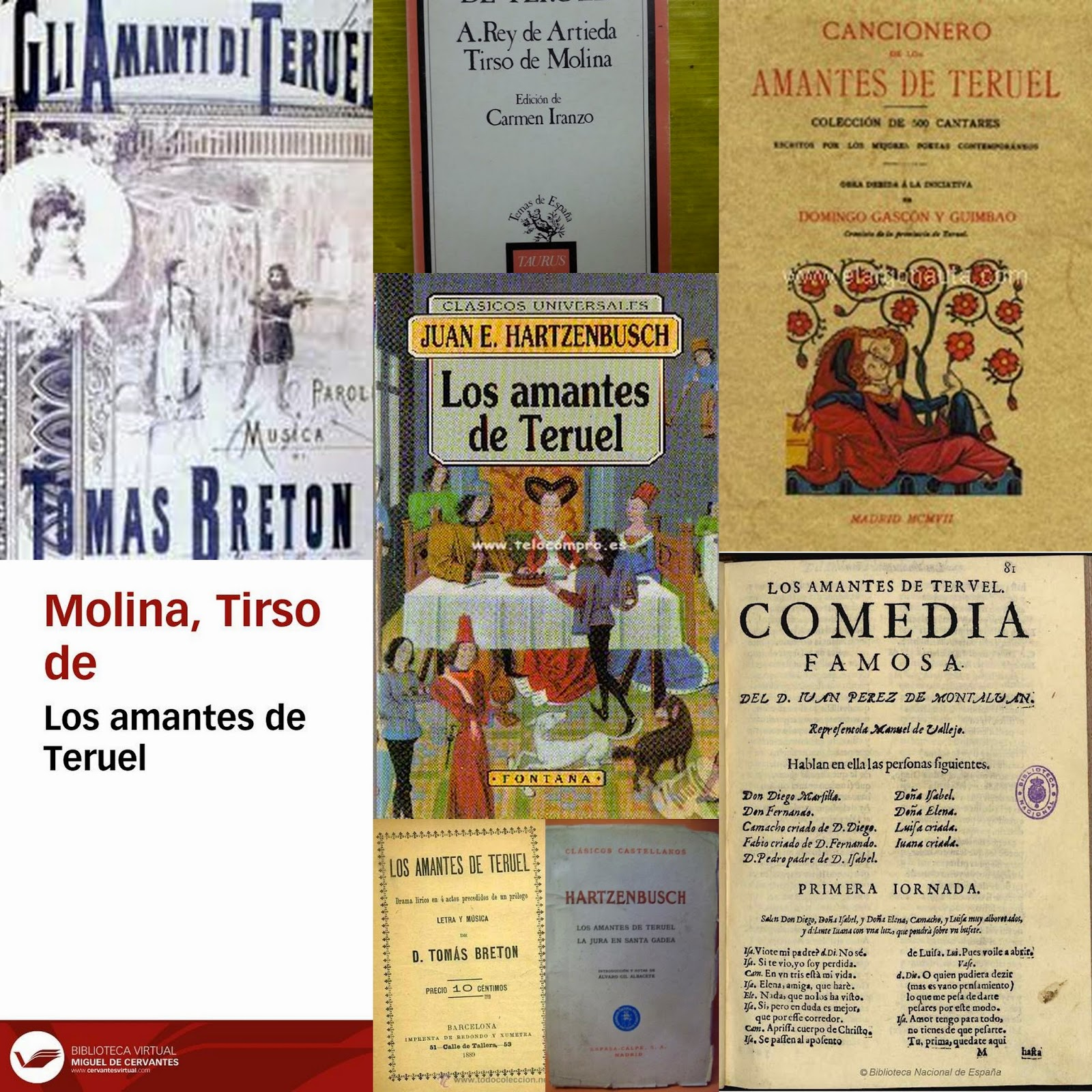 Tomás Bretón, JUan Eugenio de Hartzenbusch, Tirso de Molina