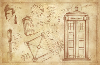 Well, I drew the Tardis & Doctor Who