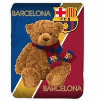 Grosir Selimut Kendra Soft Panel Blanket Barcelona Bear