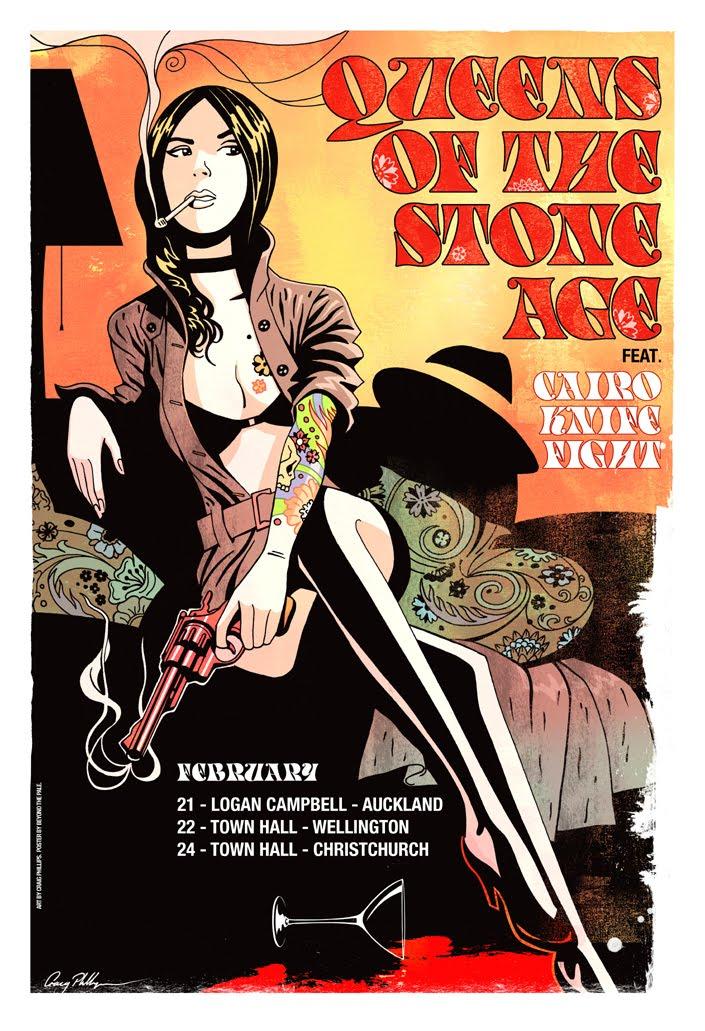 Queens of the Stone Age Poster  Concert 11 X 17 QOTSA