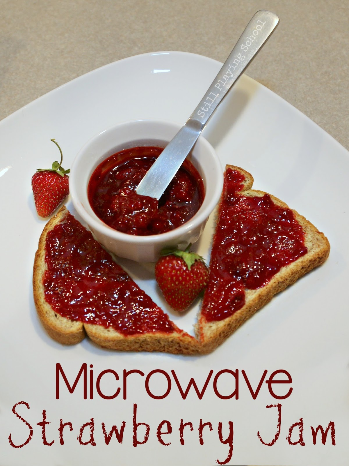 Super Simple Microwave Strawberry Jam | Still Playing School