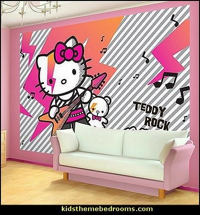 Hello Kitty Rock Wallpaper Mural · Hello ...