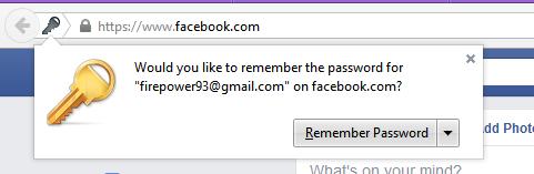 remember password firefox