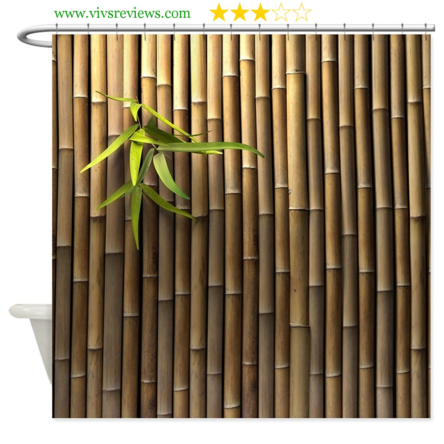 Bamboo shower curtain - If They Can Improve The Quality Of The Colors And Sharpness Of This Image This Can Be A Very Lovely Curtain For Everybody