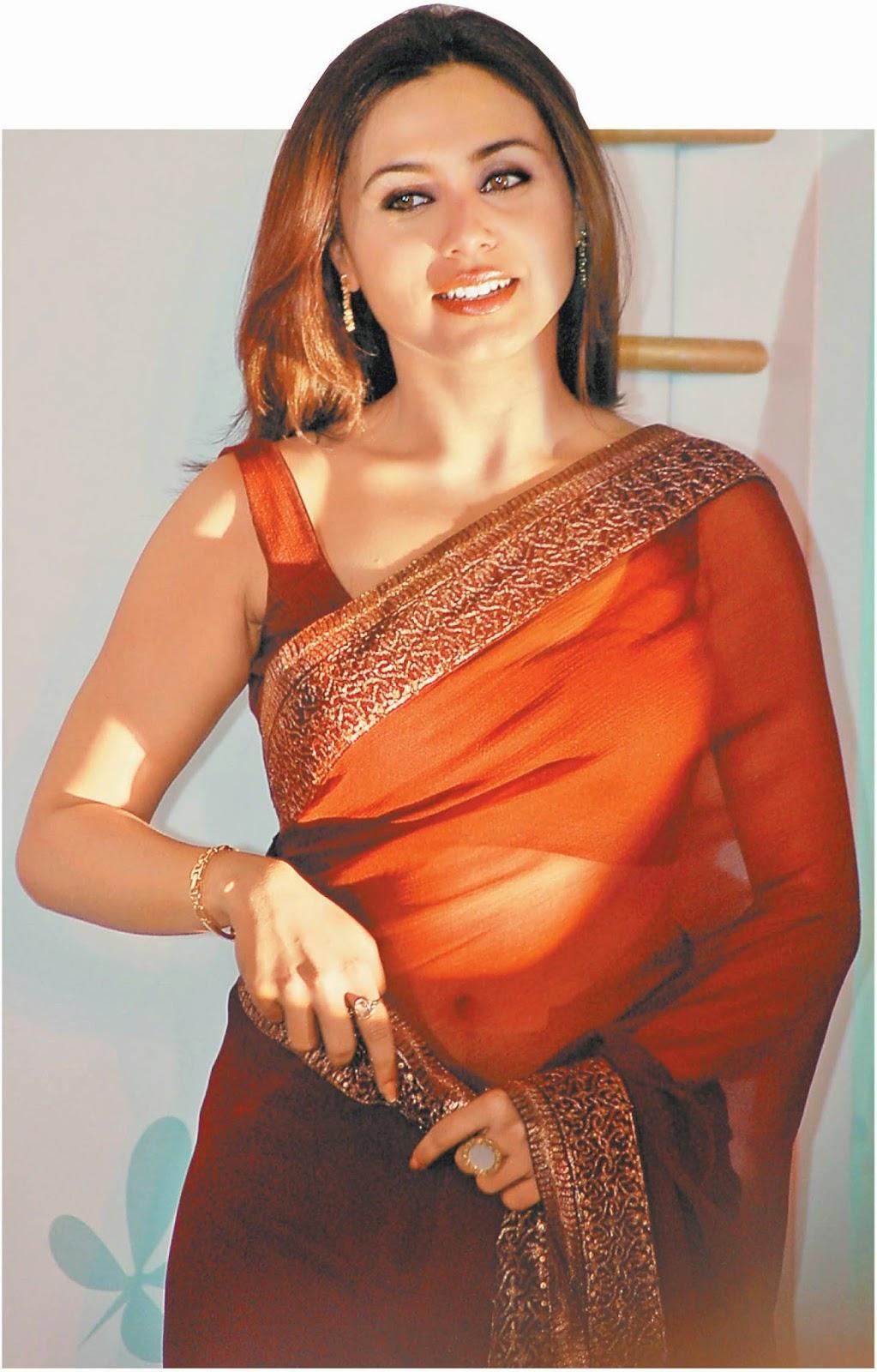 rani mukerji hot wallpaper in saree