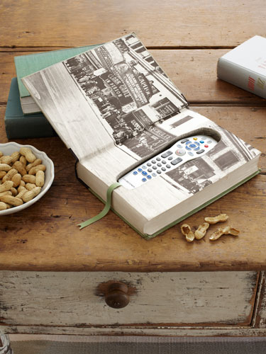 Librarian tells all diy it turn a book into a remote for Country living 500 kitchen ideas book