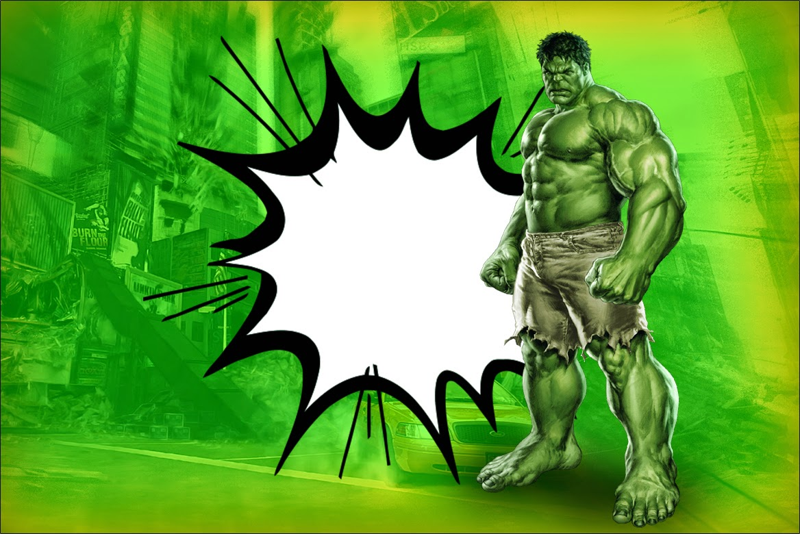 Hulk Free Printable Invitations