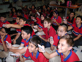Sixth Graders use Clickers to Answer Review Questions