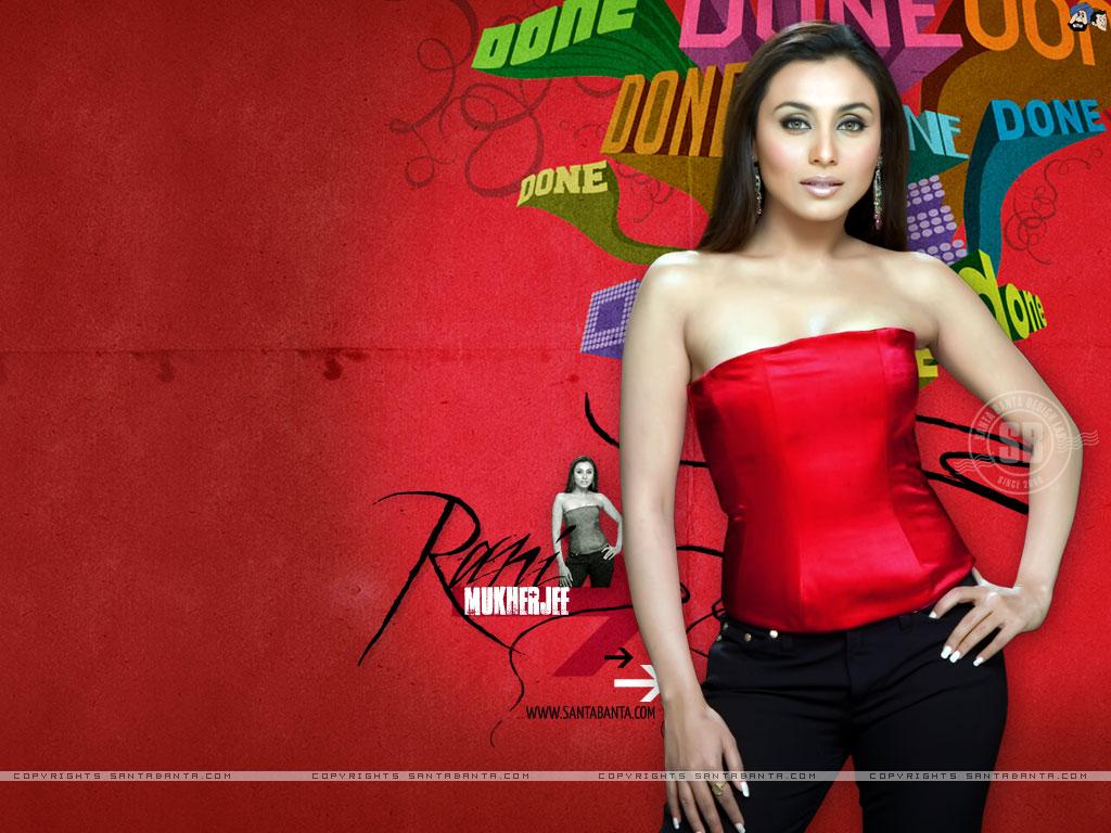Hot Celebrities Wallpaper  Rani mukherjee 2009
