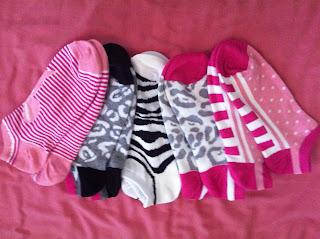 Style Athletics Target Xhilaration Socks Pink Leopard Stripe Polka Dot