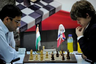 Echecs en Norvège avec Anand et Carlsen