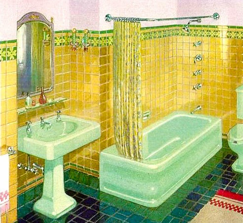Kohler 1928 catalogue for Avocado bathroom suite ideas