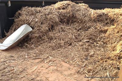Hardwood mulch for rain garden