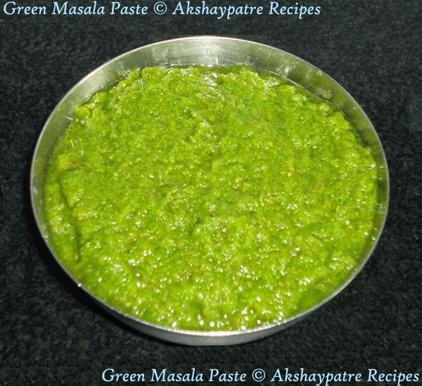 prepared green masala