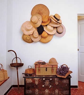 Nancy 39 s daily dish beautiful ways to decorate with hats for Ways to hang hats on wall