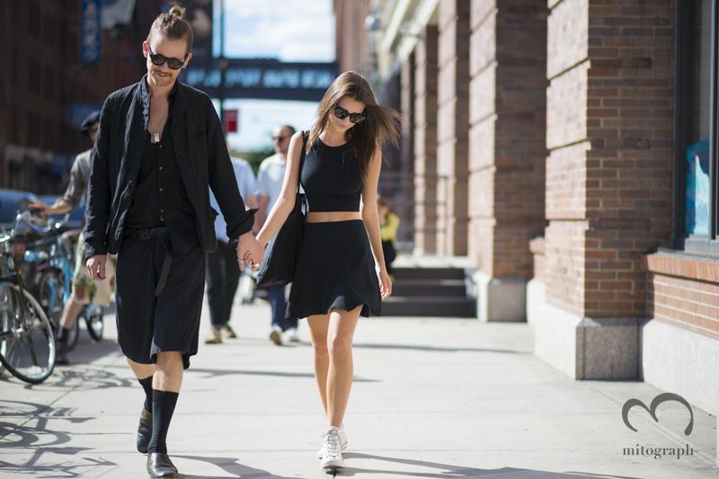 mitograph Andrew Dryden and Emily Ratajkowski New York Fashion Week 2014 Spring Summer NYFW Street Style Shimpei Mito