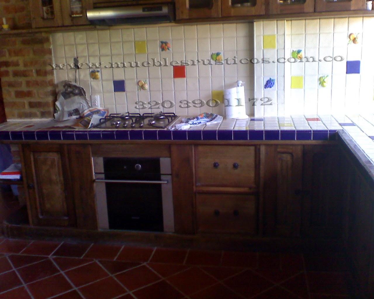 Muebles rusticos bogota cocinas integrales en madera for Muebles cocina bogota