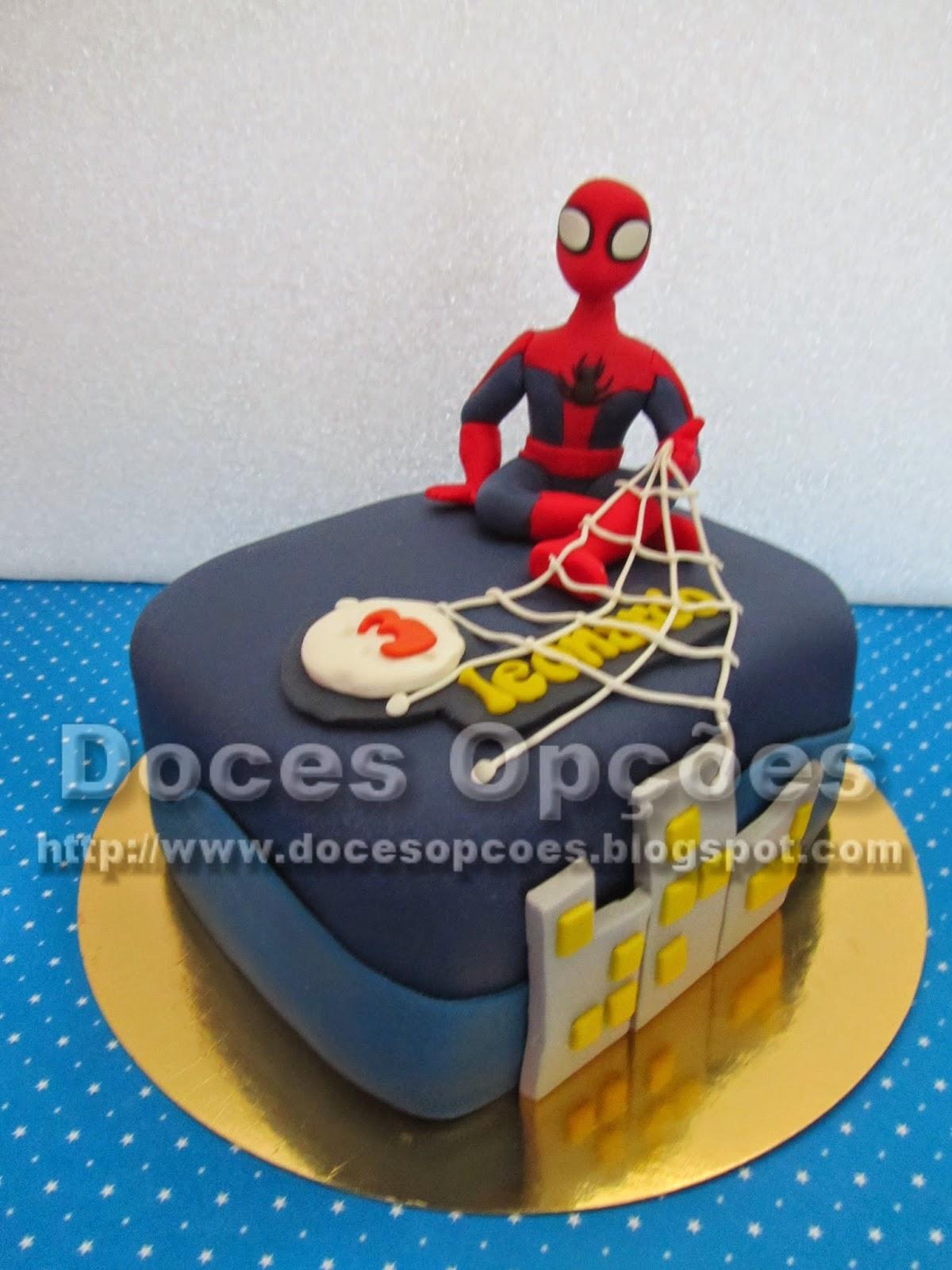 bolo aniversário homem aranha doces opções