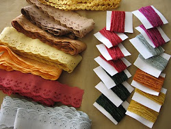 Cotton Chenille and lace trims