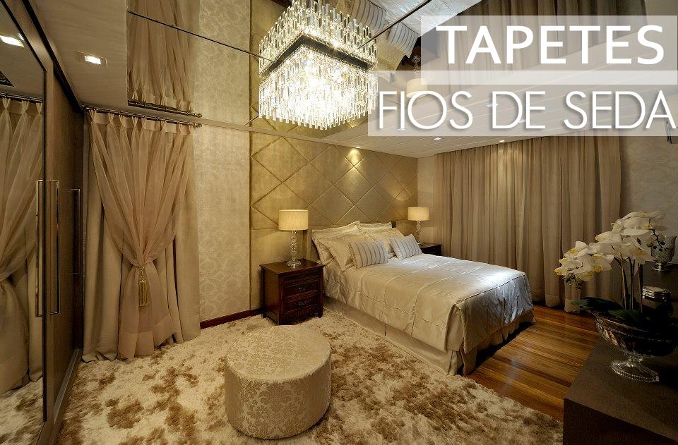 Tapetes fios de seda – veja salas e quartos maravilhosos  ~ Tapete Para Quarto E Sala