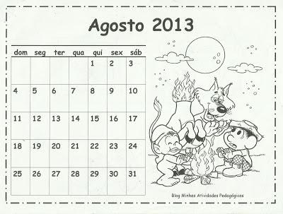 Calendários 2013 Turma da Mônica para imprimir