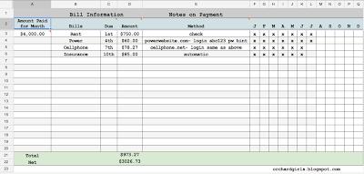 Bill Paying Spreadsheet http://orchardgirls.blogspot.com/2013/07 ...