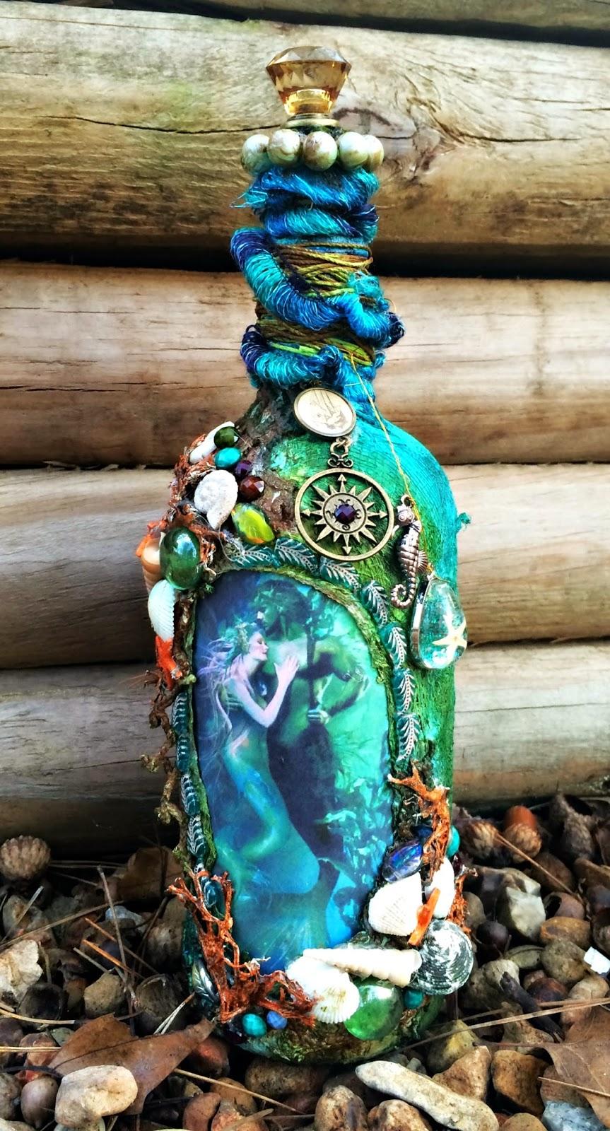 Mermaid Altered Bottle | Art Anthology