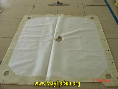 Một dạng vải lọc bùn khung bản hoàn chỉnh