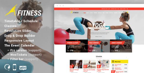 Fitness Sport Gym Responsive Theme