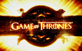 Game of Thrones Flaming Title Logo HD Wallpaper
