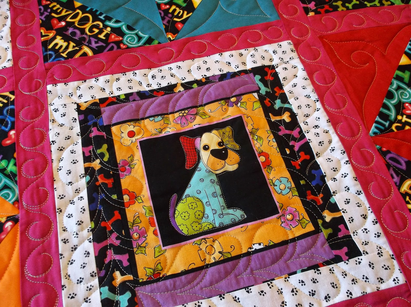 Creative Quilting by Debbie Stanton: I Love my Dog Quilt : creative quilts - Adamdwight.com