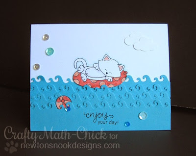 Kitty Innertube Card by Crafty Math Chick | Newton's Summer Vacation by Newton's Nook Designs
