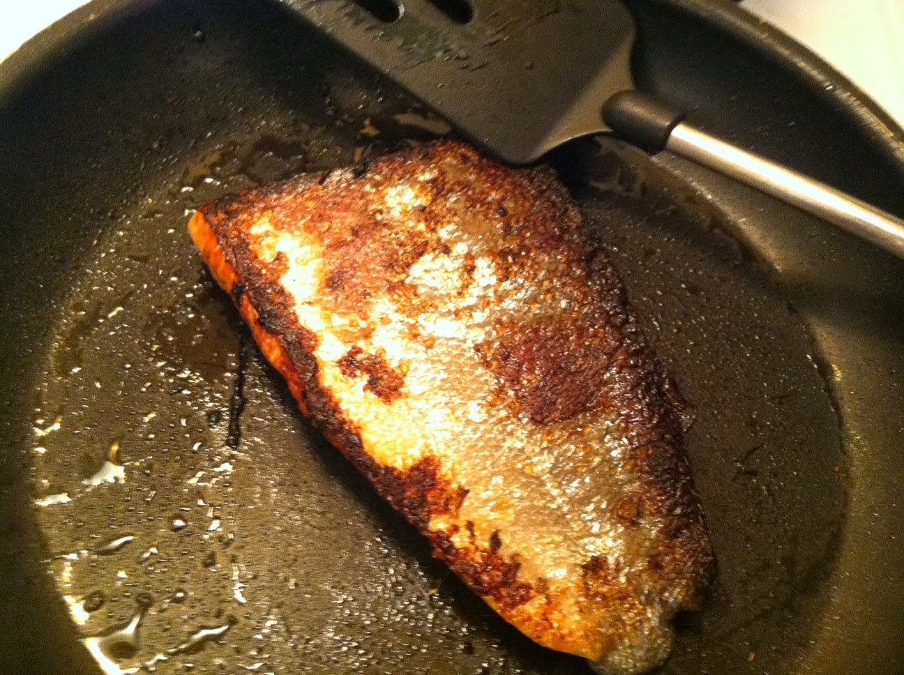 Pan Seared Salmon with Soy Ginger Marinade. Cooking Chat recipe.