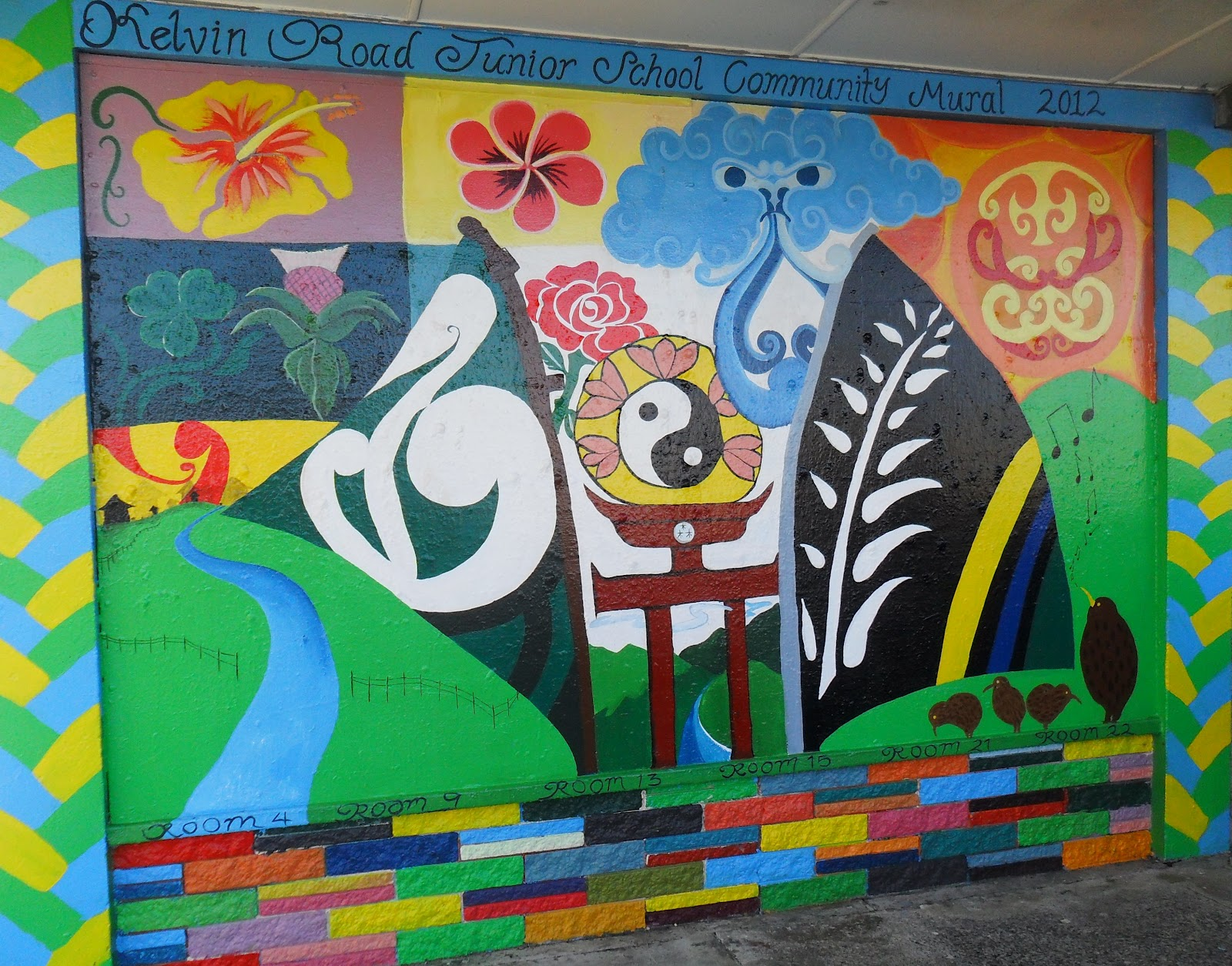 Kelvin road school blog the junior school paint a mural for Airbrush mural painting