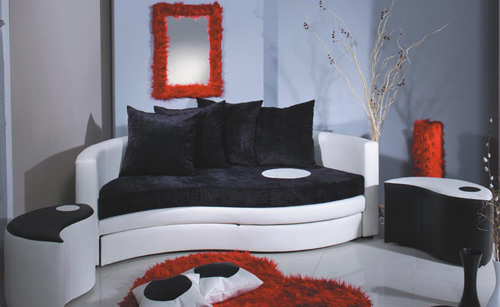 The Furniture Alfemo Yin Yang Contemporary Sofa Set