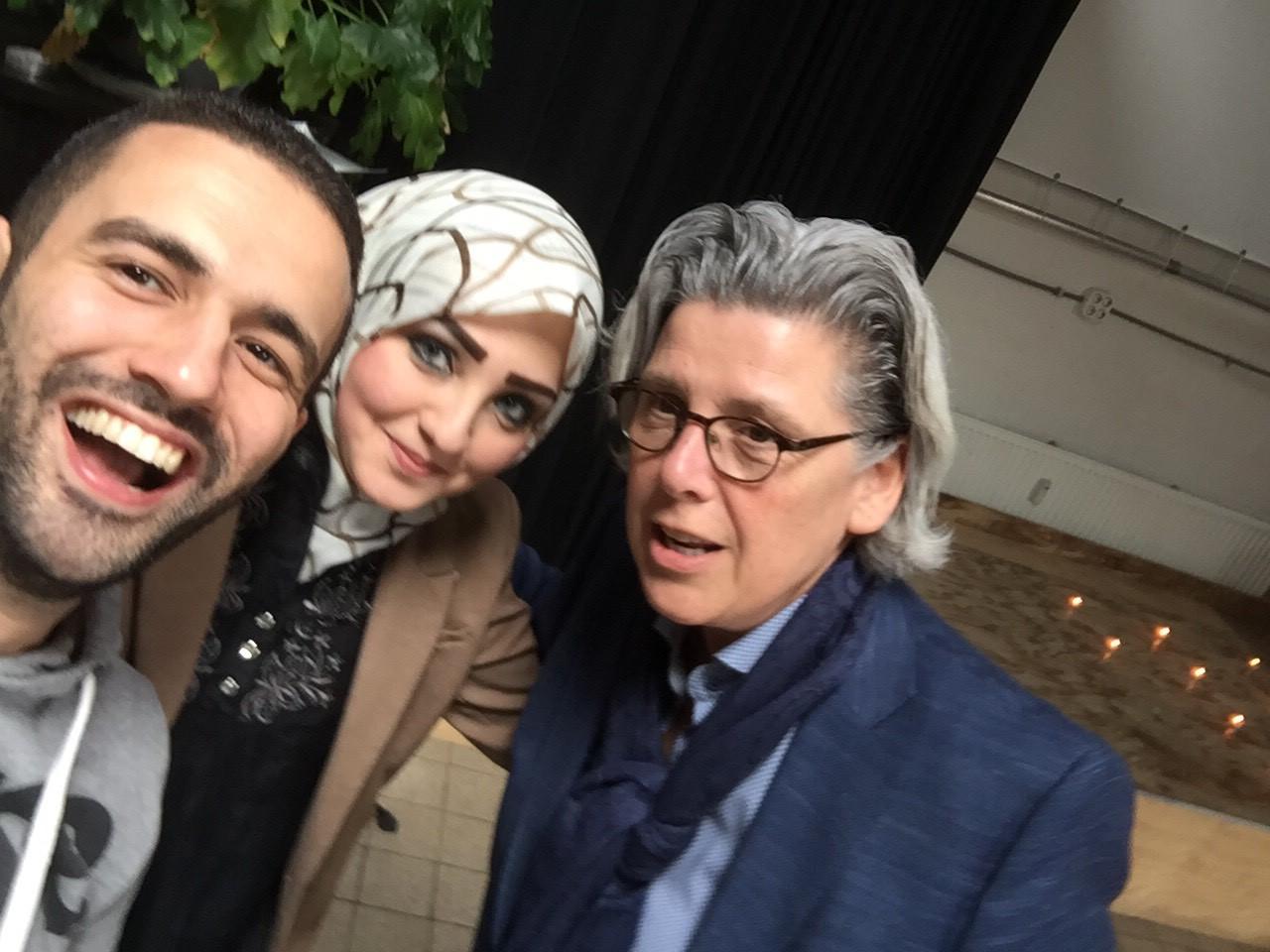 Razan, Adel en Anita
