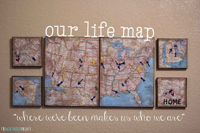 http://www.theweatheredpalate.com/2014/09/our-life-map-on-canvas.html