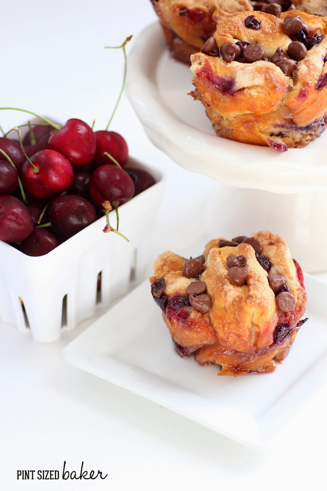 Chocolate Cherry Monkey Bread Muffins - Pint Sized Baker