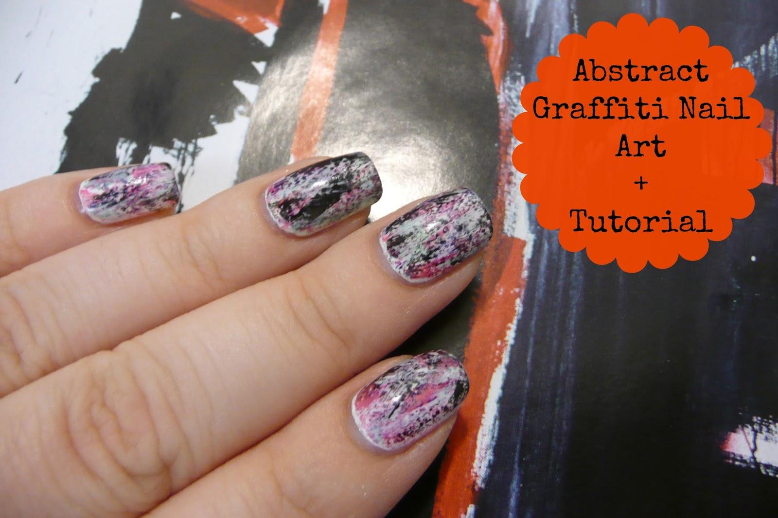 Abstract Graffiti Nail Art Tutorial Kaitlyn Elisabeth Beauty